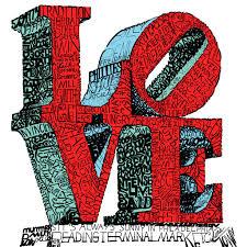 philadelphia love statue word art poster  on philadelphia love wall art with philadelphia love statue word art print phillywordart