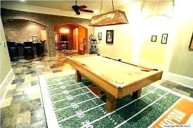 rug under pool table game best size for how big should an area a be is