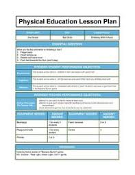 Pe Lesson Plan Physical Education Lesson Plan Lesson Plan For 1st 3rd