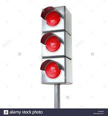 Traffic Light 3 Traffic Light With 3 Red Lights Stock Photo 123158861 Alamy
