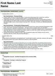 Professional Membership On Resumes Finance Officer Resume Format Free Download Mmventures Co