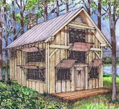 Cottage Plans   Timber Frame HQCottage Plans  Small Timber Frame Cabin