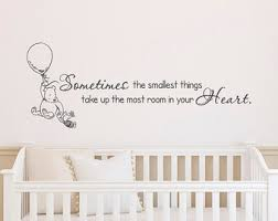 nursery wall decals classic winnie the pooh wall decals quotes sometimes the smallest things winnie on wall decal quotes for nursery with nursery wall decals the interesting additions blogbeen