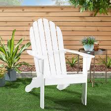 Mainstays Wooden Outdoor <b>Adirondack Chair</b>, White Finish, <b>Solid</b> ...