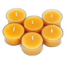 1 X 4 6 Hr Pure Beeswax Tea Light Candle Wholesale By