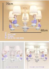 Großhandel Cartoon Prinzessin Haus Meerjungfrau Kronleuchter Beleuchtung Mädchen Schlafzimmer Deco Kinderzimmer Licht Romantische Led Kronleuchter