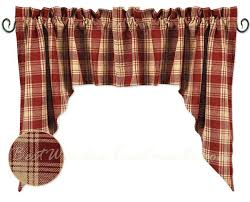 red checked curtain red checd kitchen curtains red plaid kitchen curtains 1 red and yellow checd