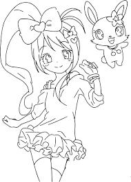 Coloriage Jewelpet Fille Manga Imprimer Sur Coloriages Info