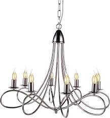 chandelier pendant lyndon transitional 8 light polished nickel metal new el 2757 com