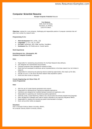 Scientific Resume Template Sample Resume Assistant Portfolio