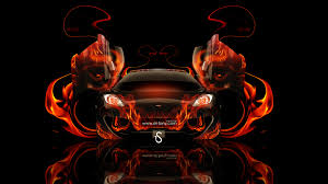 mclaren p1 open doors fire abstract car