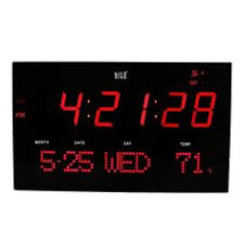 digital office wall clocks digital. Hito Extra Large Atomic Radio Controlled LED Wall Clock Red ** Click Image To Review More Details. Digital Office Clocks R