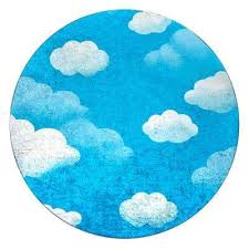 contemporary jojo clouds blue 5 ft x 5 ft round area rug