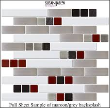 Red Kitchen Tile Backsplash Merola Tile Tessera Subway Bordeaux 11 3 4 In X 11 3 4 In X 8 Mm