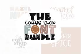 Coffee shop was a font originally designed for the coffee shop, london. The Coffee Shop Font Bundle By Ka Designs Thehungryjpeg Com