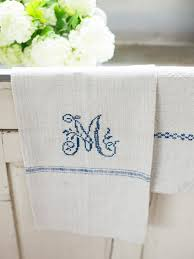 easily cross stitch a monogrammed tea towel for amazing custom kitchen towels pertaining to your