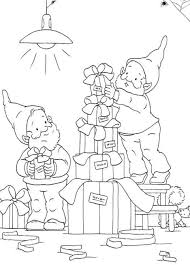 Printable Coloring Pages Christmas Elves Preparing Some Presents ...