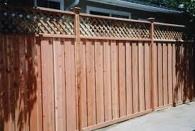 custom wood fences gates redwood