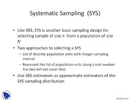 Sampling Design Example In Thesis Systematic Sampling Survey Sampling Techniques Lecture