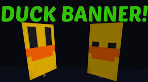 Minecraft How To Make A Banner Design Minecraft How To Craft A Duck Banner Easy