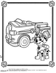 Pat Patrouille Marshall Camion Coloriage Pat Patrouille
