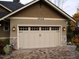 craftsman style garage doorsThe simple panel design of this Clopay Coachman Collection