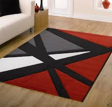 red and black rugs plan