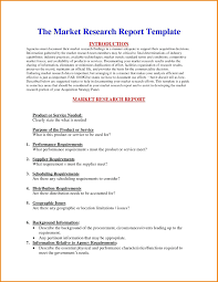 Marketing Report Sample template Market Research Report Template 1