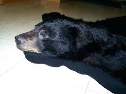 faux bear skin rug with head faux black bear rug faux black bear skin rug with