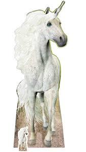 life size unicorns unicorn lifesize cardboard cutout 185cm partyrama
