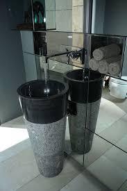 Marble pedestal sink Vessel Free Standing Black Marble Pedestal Sink Bathroom 90 Cm 40 Cm Cono Model Marble Mosaics Free Standing Black Marble Pedestal Sink Bathroom 90 Cm 40 Cm Cono