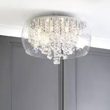 scarce flush bathroom ceiling light dar lighting peta led in polished