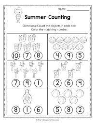 Worksheets Kindergarten Worksheet Counting Numbers Elegant For All ...