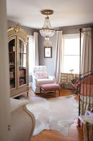 chandeliers for baby girl room feminine vintage nursery featuring antique chandelier and a fab fresh design