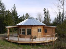 Captivating Wooden Yurt With Wrap Around Deck In The Woods