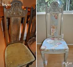 Dining Room Chair Reupholstery Diy 5 Dining Chair Redone A Boy A Girl And 2 Mini Aussies