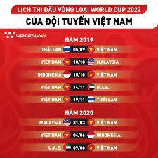 Lịch thi đấu vòng loại world cup 2022: Lịch Thi Ä'ấu Ä't Việt Nam ở Vong Loại World Cup 2022
