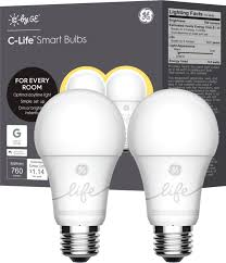 C By Ge C Life A19 Bluetooth Smart Led Bulb 2 Pack White