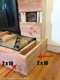 diy fireplace makeover framing around vents how to frame a hearth