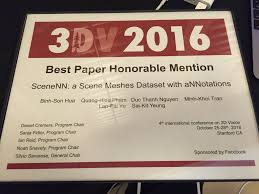 lap fai craig yu scenenn a scene meshes dataset annotations ieee international conference on 3d vision 3dv 2016 oral presentation best paper honorable mention