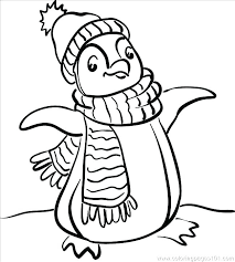 Penguin Coloring Pictures Baby Penguin Coloring Pages Club Penguin