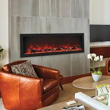 55 inch wide electric fireplace