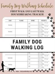Dog Walking Chart 27 Best Pet Printables Images In 2019 Pets Dog Walking