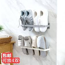 style pasted wall mounted shoe rack stereo slippers shelves sneakers storage home depot