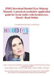 Pdf Download Hooded Eyes Makeup Manual A Practical