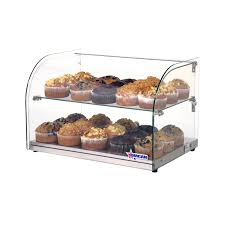 22 inch countertop food display case with curved front glass and 45 l capacity omcan