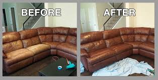 leather couch restoration in austin tx by premier leather restoration