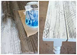 how to white wash reclaimed wood diy farmhouse table satori design for living