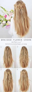 best hairstyles for long hair braided flower crown step by step tutorials for easy