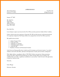 8 Aviation Cover Letter Mla Cover Page
